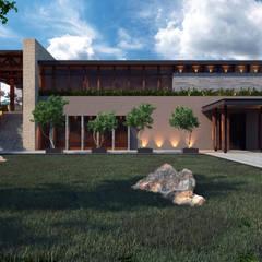 Casa Club El Marques : Spa de estilo  por Tectónico, Ecléctico Piedra