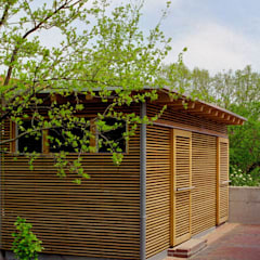 Garage/shed by Archwerk Morenz, Colonial لکڑی Wood effect