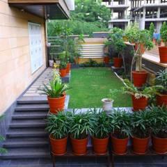 Residential Landscape at Jodhpur #design creation @Ravi & Nupur Architects:  Front yard by RAVI - NUPUR ARCHITECTS