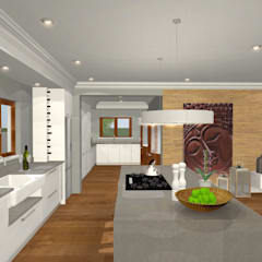 HOUSE M:  Kitchen by Kirsty Badenhorst Interiors,