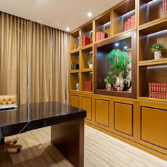 Casa Indaiatuba: Escritórios  por Designer de Interiores e Paisagista Iara Kílaris