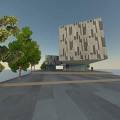 2: Edificios de Oficinas de estilo  por ARQUITECTURA VANGUARDIA