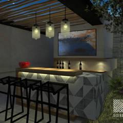 Casa LT7: Cavas de estilo industrial por Espacio en Blanco