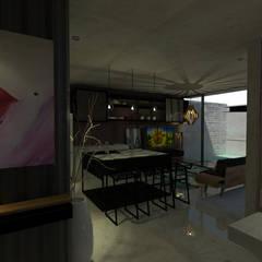 Casa LT7: Cocinas de estilo  por Espacio en Blanco, Industrial