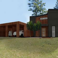 Proyecto Inmobiliario Refugio Alma : Garages de estilo  por Smartlive Studio
