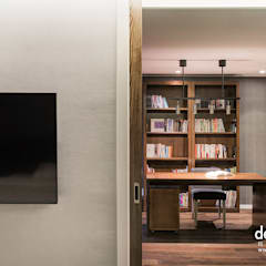 고급스런 클래식의 향연: Design A3의  서재 & 사무실