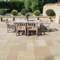 Exterior Limestone Floor:  Terrace by Lincolnshire Limestone Flooring