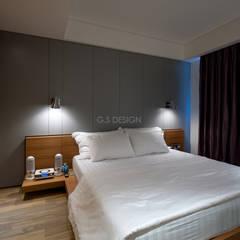 台北大直北歐風住宅:  臥室 by 八軒室內裝修工程有限公司,