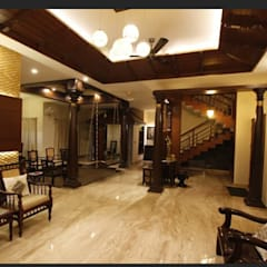 Srinivas house in Bangalore : classic Living room by montimers