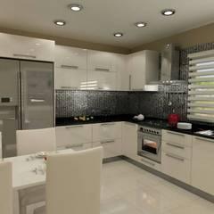 Pastel İç Mimarlık – HİGH GLOSS MUTFAK:  tarz Mutfak