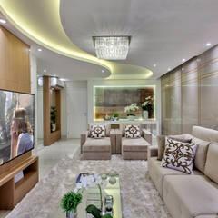 Apartamento Jundiaí: Salas de estar modernas por Designer de Interiores e Paisagista Iara Kílaris