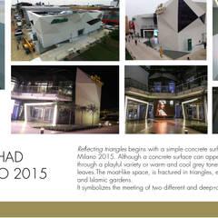 EXPO 2015 - REFLECTING TRIANGLES - Alitalia-Etihad Airways Pavilion  : Allestimenti fieristici in stile  di A3PAESAGGIO