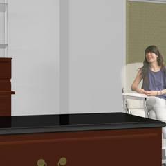 ESTÉTICA NELKAR'S LOMAS PLAZA: Espacios comerciales de estilo  por Síntesis Arquitectónica ®
