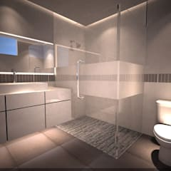 Render: Baños de estilo  por Síntesis Arquitectónica ®