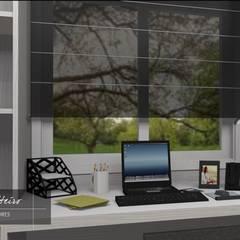 Home Office: Escritórios  por Renata Monteiro Arquitetura e Interiores