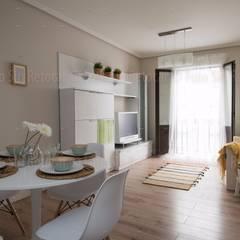 Home Staging a piso en Bilbao - En venta: Salones de estilo  de Casas a Punto home staging