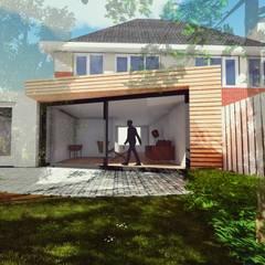 Aanbouw Woning Assen:  Huizen door RABARB Architecten