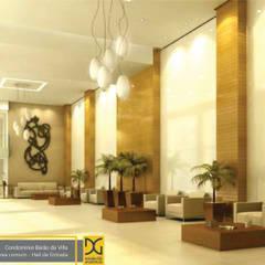 Hall de Entrada e Salão de Festas - Condomínio: Corredores e halls de entrada  por Estúdio DG Arquitetura
