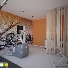 ДОМ В МОСКВЕ: Тренажерные комнаты в . Автор – Мастерская интерьера Юлии Шевелевой