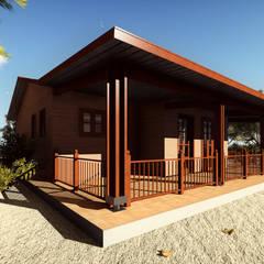Casa prefabricada en madera: Casas de estilo rural por JMGLL - Arquitecto