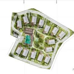 CONDOMINIO: Casas de estilo  por SUPERFICIES Estudio de arquitectura y construccion