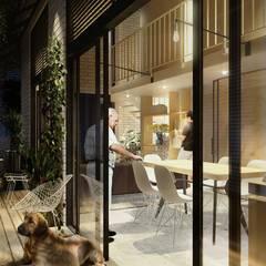 PORCHE - INTERIOR: Casas de estilo  por SUPERFICIES Estudio de arquitectura y construccion