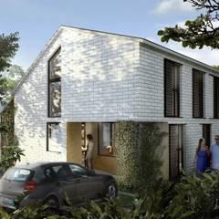ACCESO VIVIENDA: Casas de estilo  por SUPERFICIES Estudio de arquitectura y construccion