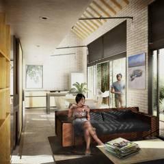 ZONA SOCIAL: Casas de estilo  por SUPERFICIES Estudio de arquitectura y construccion