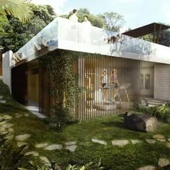 ZONAS COMUNES: Casas de estilo  por SUPERFICIES Estudio de arquitectura y construccion