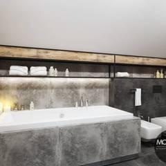 Łazienka w klimacie industrialnym: styl , w kategorii Łazienka zaprojektowany przez MONOstudio