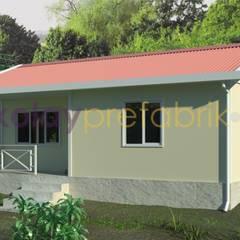 Kolay Prefabrik Evler – TEK KATLI PREFABRİK EV 58 m2 (2+1) Dış Cephe Boya: klasik tarz tarz Evler
