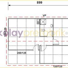 Kolay Prefabrik Evler – TEK KATLI PREFABRİK EV 58 m2 (2+1) Plan: klasik tarz tarz Evler