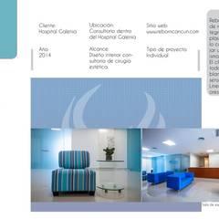Sala de espera: Clínicas / Consultorios Médicos de estilo  por Andrea Loya