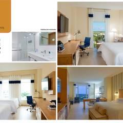 Habitaciones: Hoteles de estilo  por Andrea Loya