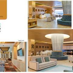 Lobby: Hoteles de estilo  por Andrea Loya