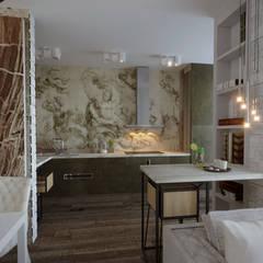 Москва жилой комплекс «Мир Митино»: Кухни в . Автор – Студия дизайна Натали Хованской
