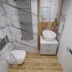 Москва жилой комплекс «Мир Митино»: Ванные комнаты в . Автор – Студия дизайна Натали Хованской