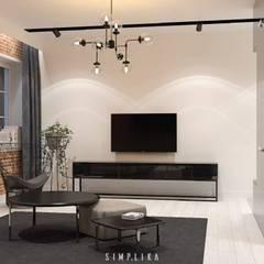 Salas / recibidores de estilo  por SIMPLIKA