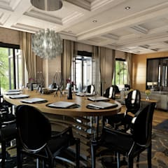 ÖZHAN HAZIRLAR İÇ MİMARLIK – ViLLA ANKARA:  tarz Yemek Odası
