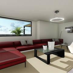 Sala: Salas de entretenimiento de estilo  por PRG Arquitectura & Diseño