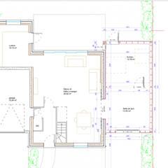 La boîte de jeu: Salle multimédia de style  par Tristan Bacro Design d'Espace