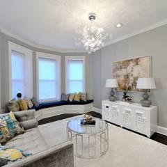 Renovation on 82nd Street: modern Living room by KBR Design and Build