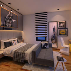 Bedroom Interior Design 3: modern Bedroom by Axis Group Of Interior Design