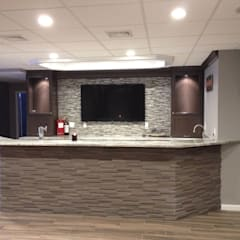 Basking Ridge Basement Bar Remodel:  Wine cellar by Kitchen Krafter Design/Remodel Showroom