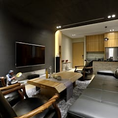 Taiwan  Taichung - J House:  視聽室 by 信美室內裝修