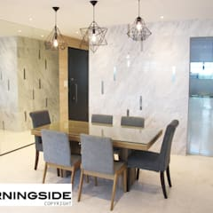 THOMSON ROAD PENTHOUSE CONDO UNIT:  Dining room by MORNINGSIDE PTE LTD,Modern