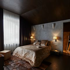 Вилла Grey-house: Спальни в . Автор – SNOU project