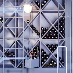 Wine Rack:  Wine cellar by Adventure In Architecture