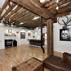 Renovation at 29 Tiffany : industrial Living room by KBR Design and Build