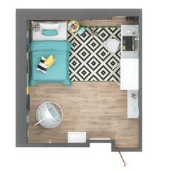 Pokój nastolatki.: styl , w kategorii Ściany zaprojektowany przez hexaform
